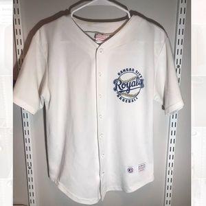 Slightly worn, youth L Lorenzo Cain royals jersey